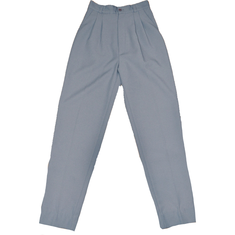 90'S Vintage 'Slim Fit' High-Waist Trousers in Grey