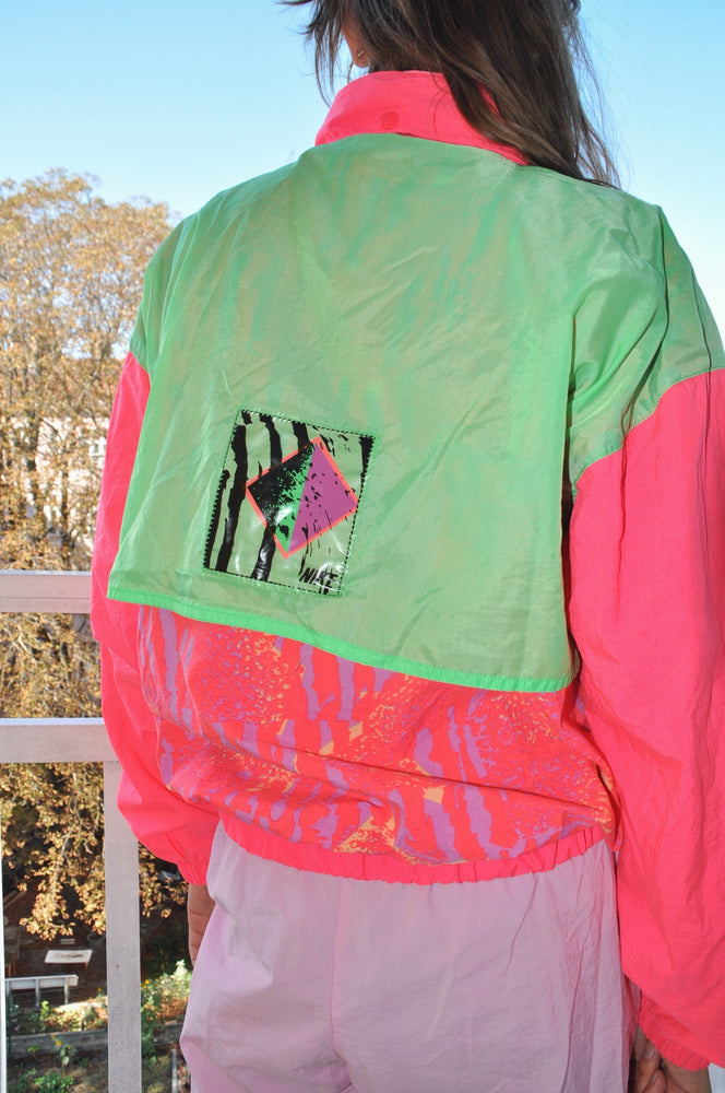 Rare Vintage Nike 2 -Piece Nylon Track Suit Set in Pink