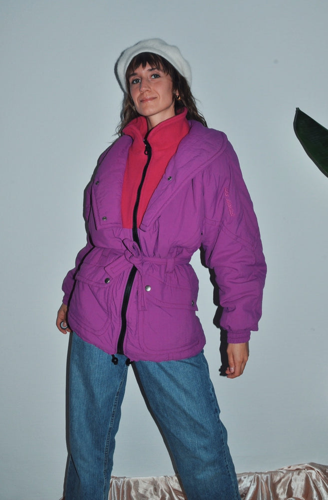 Gorgeous 90s Vintage Winter Jacket in Purple/Fusia