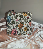 Vintage Floral Tapestry Top Handel Bag/Purse