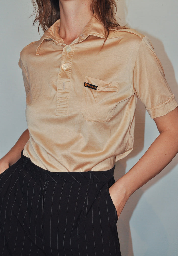 Vintage Button-Up Polo T-shirt from Wonkers