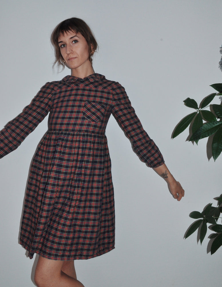 Vintage Tartan Baby Doll Dress