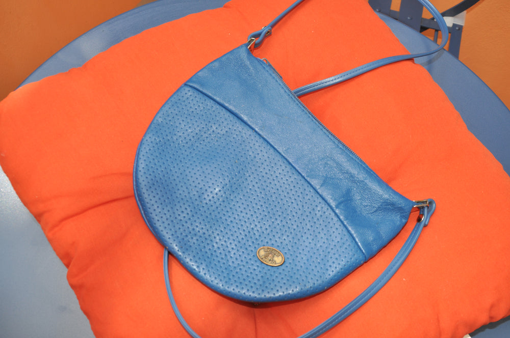 Vintage Riccardo Ferducci Cross Body Bag in Blue