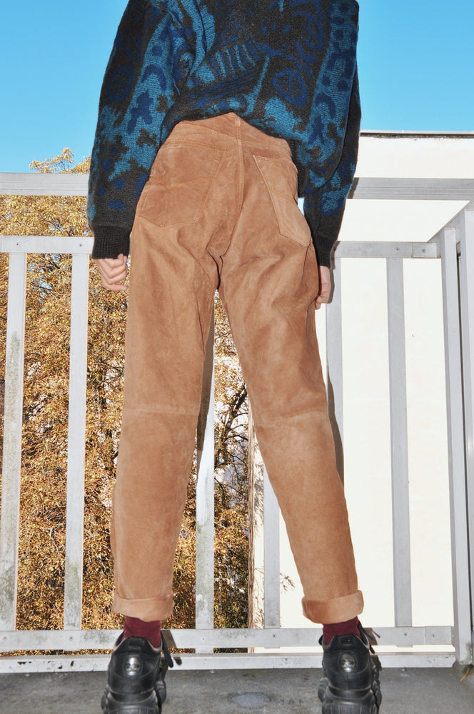 Vintage Vera Pelle Real Leather Trousers - Goodleafvintage
