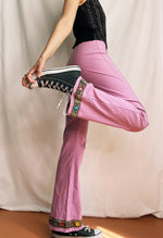 Funky Flare Pants In Pink
