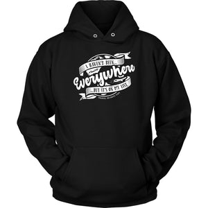 I Haven't Been Everywhere But It's On My List (Hoodie) T-shirt teelaunch Unisex Hoodie Black S