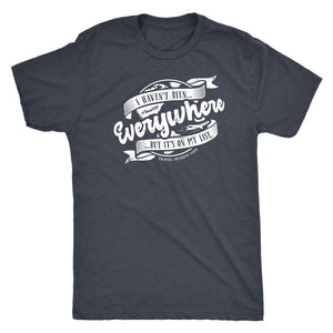 I Haven't Been Everywhere But It's On My List (Tee) T-shirt teelaunch Triblend Tee Unisex Vintage Navy S