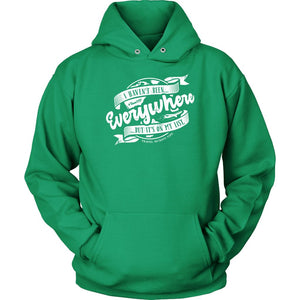 I Haven't Been Everywhere But It's On My List (Hoodie) T-shirt teelaunch Unisex Hoodie Kelly Green S