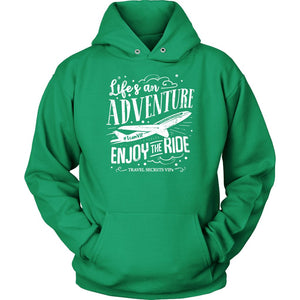 Life's An Adventure Enjoy The Ride (Hoodie) T-shirt teelaunch Unisex Hoodie Kelly Green S