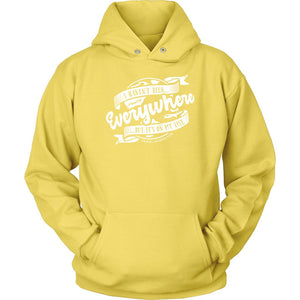 I Haven't Been Everywhere But It's On My List (Hoodie) T-shirt teelaunch Unisex Hoodie Yellow S