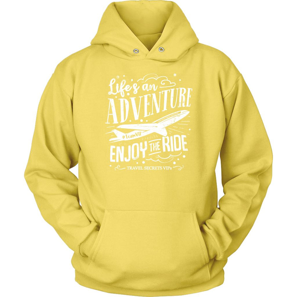 Life's An Adventure Enjoy The Ride (Hoodie) T-shirt teelaunch Unisex Hoodie Yellow S