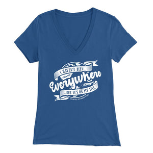 I Haven't Been Everywhere But It's On My List (V-Neck) T-shirt teelaunch Bella Womens V-Neck Blue S