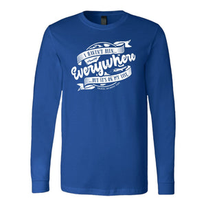 I Haven't Been Everywhere But It's On My List (Long Sleeve) T-shirt teelaunch Long Sleeve (Cuffs) Blue S