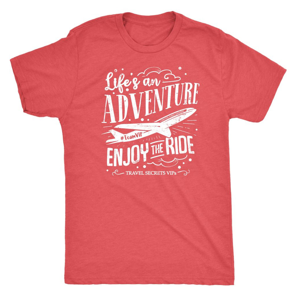 Life's An Adventure Enjoy The Ride (Tee) T-shirt teelaunch Triblend Tee Vintage Red S