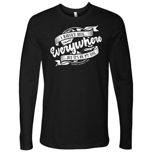 I Haven't Been Everywhere But It's On My List (Long Sleeve) T-shirt teelaunch Long Sleeve (No Cuffs) Black S