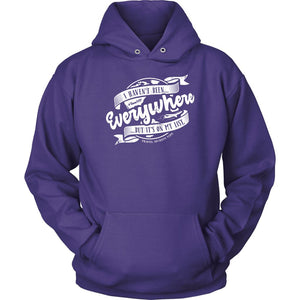 I Haven't Been Everywhere But It's On My List (Hoodie) T-shirt teelaunch Unisex Hoodie Purple S