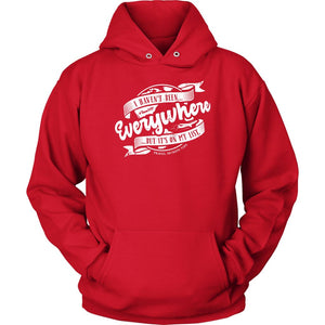 I Haven't Been Everywhere But It's On My List (Hoodie) T-shirt teelaunch Unisex Hoodie Red S