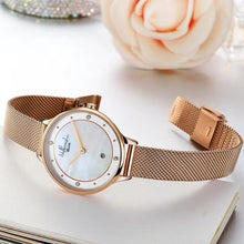 "Load image into Gallery viewer, Everyday Rose Gold Women's Watch ""Golden Rose"" with Jewels and Mother of Pearl - Nathan Lee Online"