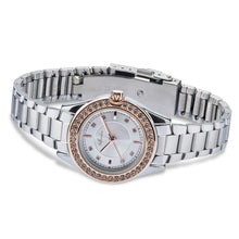 "Load image into Gallery viewer, ""Crystal Radiance"" Women's Rose Gold and Silver Jeweled Watch - Nathan Lee Online"