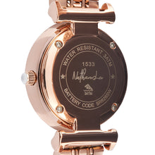 "Load image into Gallery viewer, ""Jewel Queen"" Rose Gold Roman Numeral Women's Watch with Jeweled Watch Face - Nathan Lee Online"
