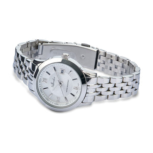 "Women's Silver Fashion Watch ""Mystery Heart"" with Roman Numerals on the Watch Face - Nathan Lee Online"