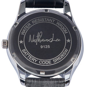"""Black Fire"" Men's Fashion Watch from the Smooth Operator Collection - Nathan Lee Online"