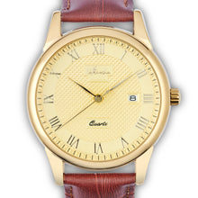 "Load image into Gallery viewer, Vintage Men's Watch ""Vintage Wildfire"" with Leather Strap and Classic Styling - Nathan Lee Online"