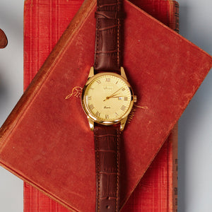 "Vintage Men's Watch ""Vintage Wildfire"" with Leather Strap and Classic Styling - Nathan Lee Online"