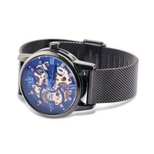 "Load image into Gallery viewer, ""Blue Diamond"" Men's Fine Luxury Mechanical Automatic Stainless Steel Watch - Nathan Lee Online"