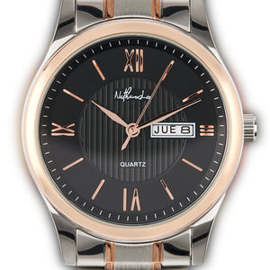 "Bold Eminence ""Black Desire"" Men's Rose Gold, Silver, and Black Fashion Watch - Nathan Lee Online"