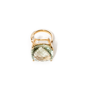Prasiolite yellow gold Ring