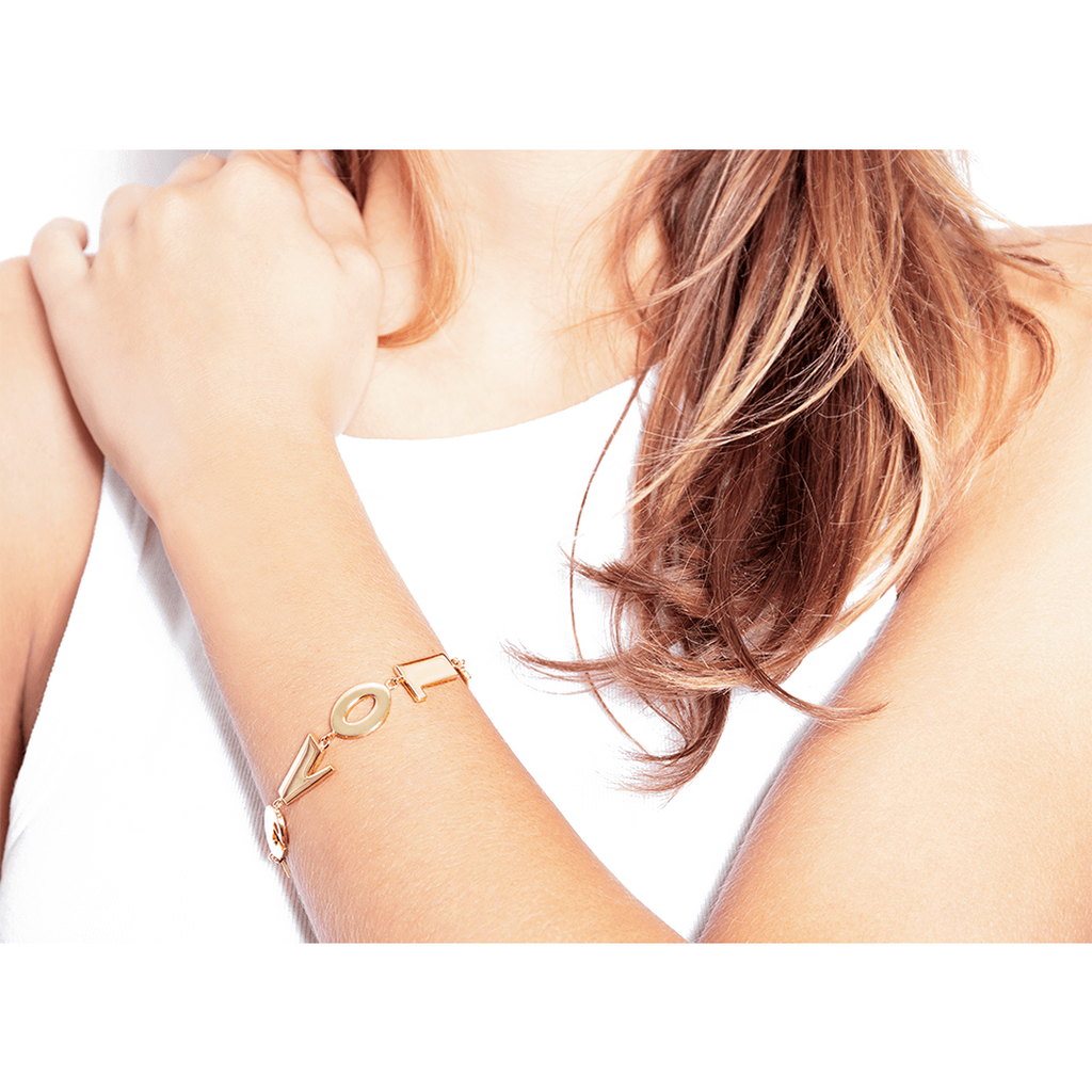 Gold plated I Love You Bracelet