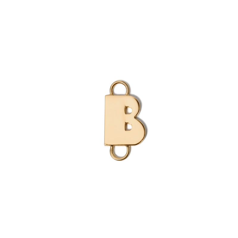 Gold plated Art Deco Initial Bracelet