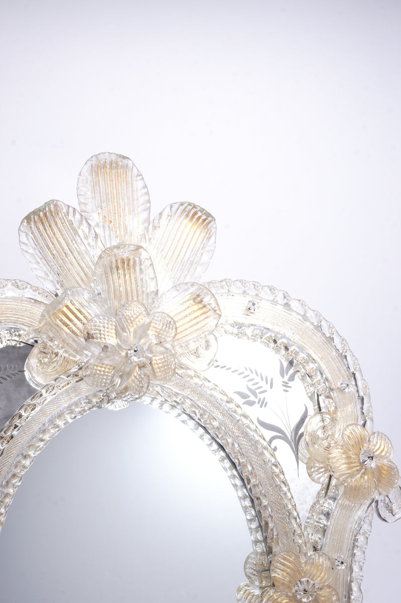 Golden Flower Decoration Mirror