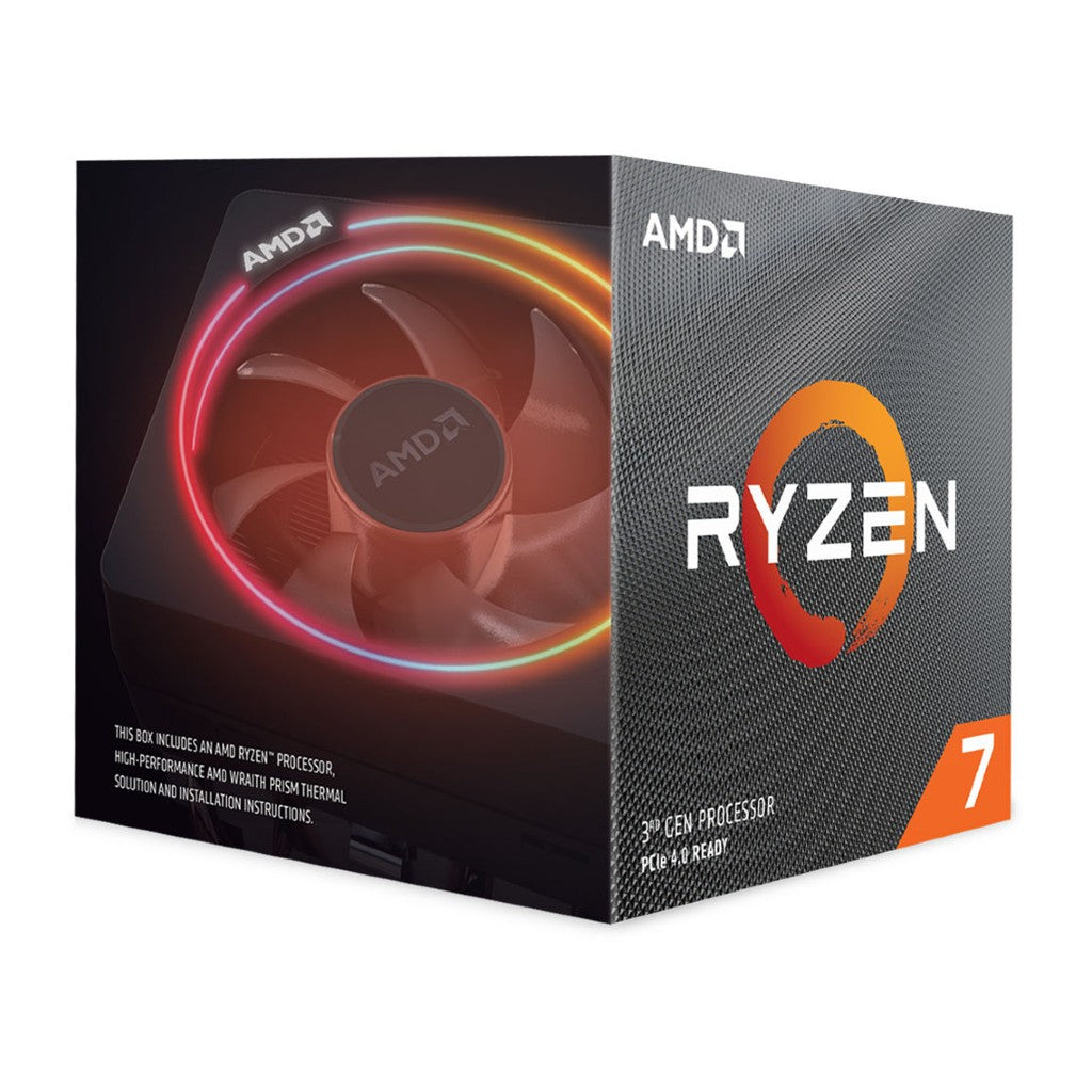 AMD Ryzen 7 3700X Processor with Wraith Prism RGB LED Cooler