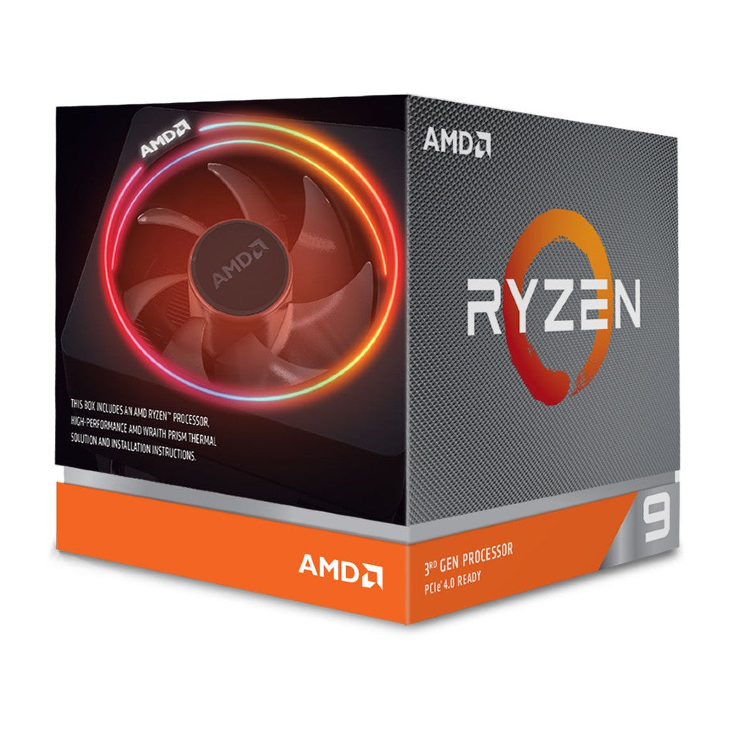 AMD Ryzen 9 3900X Desktop Processor with Wraith Prism RGB LED Cooler