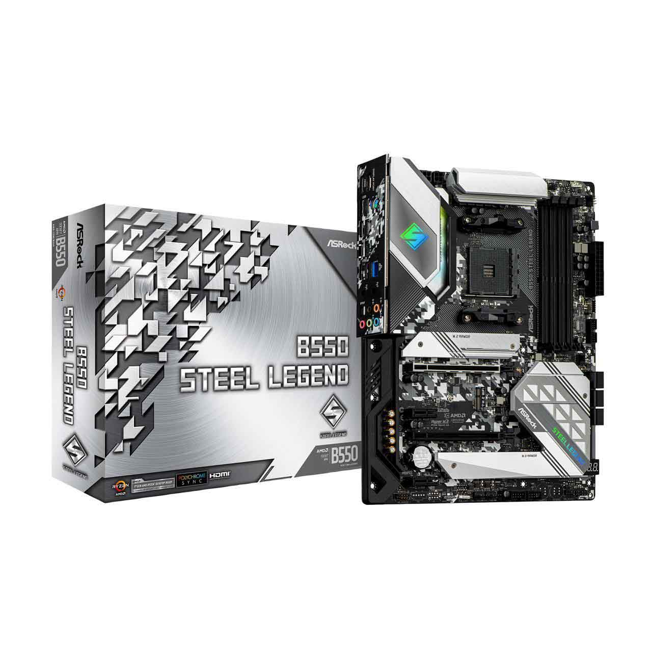 ASRock B550 STEEL LEGEND AM4 ATX AMD Motherboard