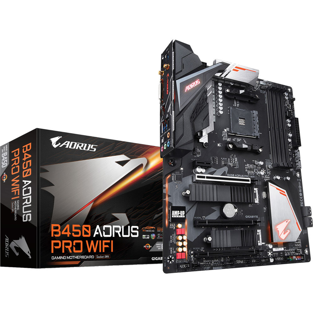 Gigabyte B450 AORUS PRO WIFI AMD AM4 ATX Gaming Motherboard