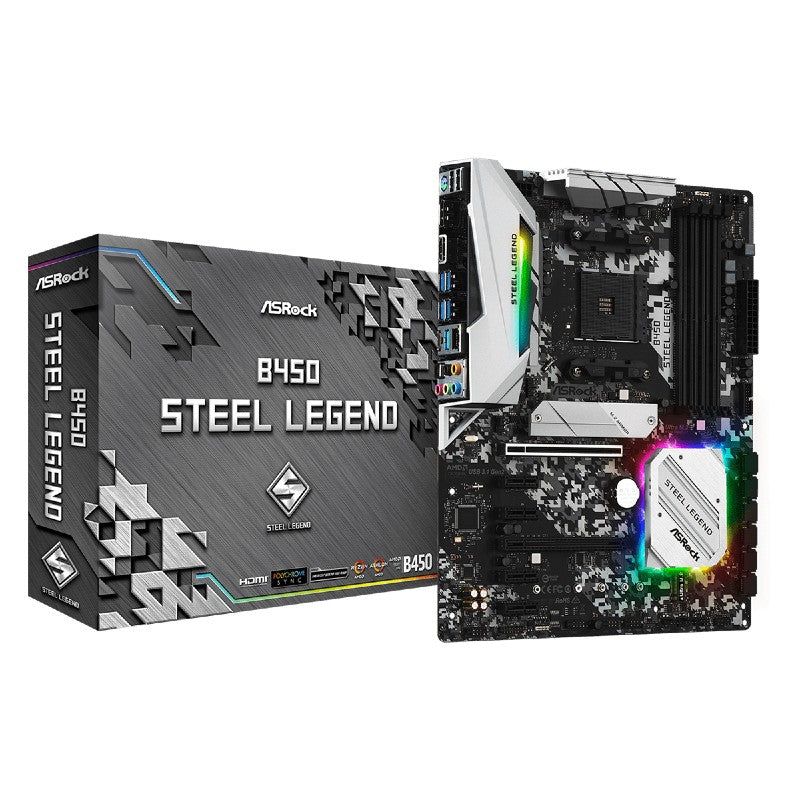 ASRock B450 Steel Legend AMD AM4 ATX Gaming Motherboard