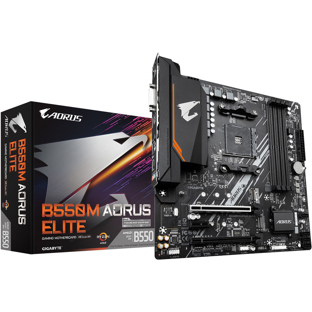 Gigabyte B550M AORUS ELITE AMD AM4 Micro ATX Gaming Motherboard