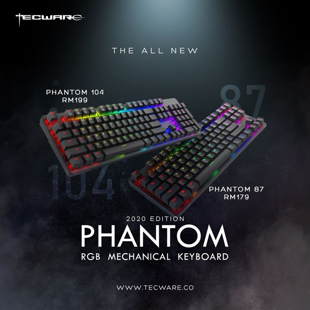 Tecware Phantom 104 RGB MECHANICAL KEYBOARD 2020 Editions