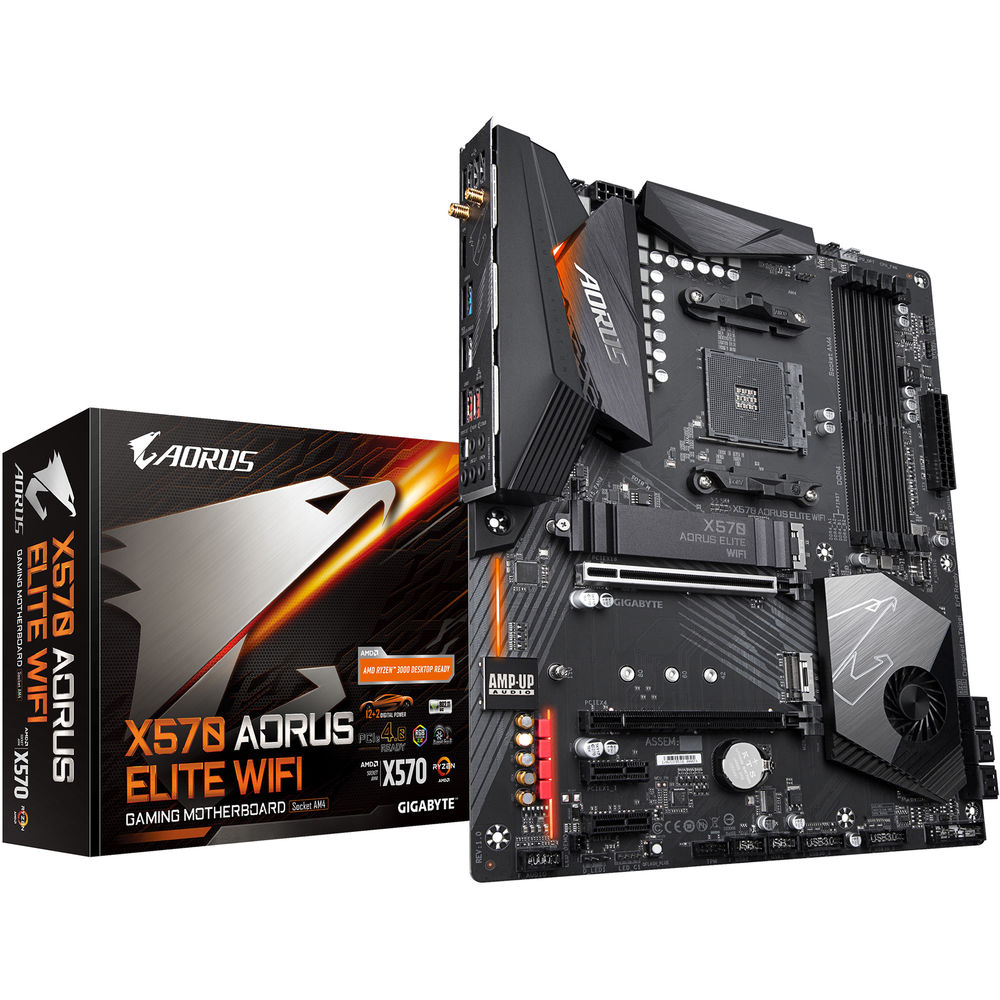 Gigabyte X570 AORUS ELITE WIFI AMD AM4 ATX Gaming Motherboard