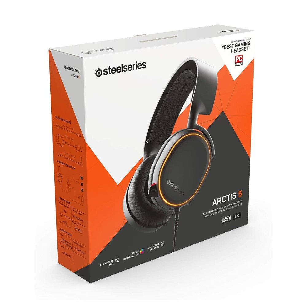 SteelSeries Arctis 5 Black RGB Gaming Headset (2019 Edition)