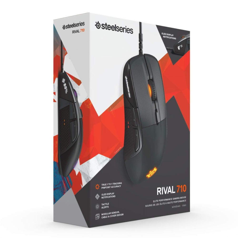 SteelSeries Rival 710 OLED RGB Gaming Mouse