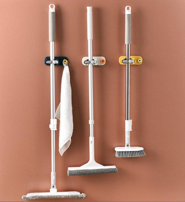 Wall Mounted Broom And Mop Holder 1 Pc