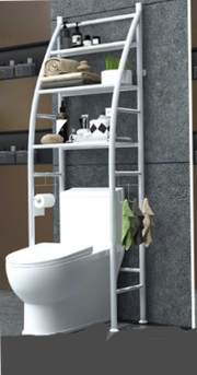 Thicken Over The Rack Metal Toilet Cabinet Shelving - AIDAeMART