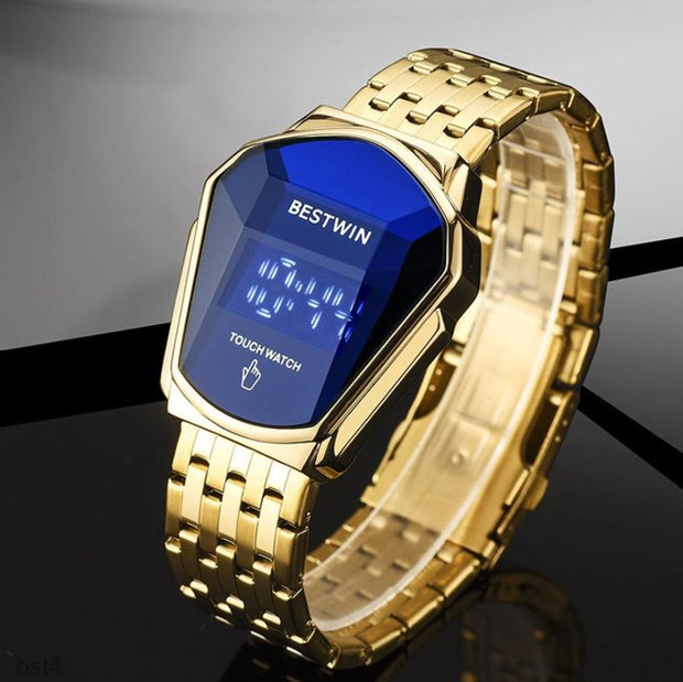 BST4-Men's Touch Screen Waterproof Quartz Watch