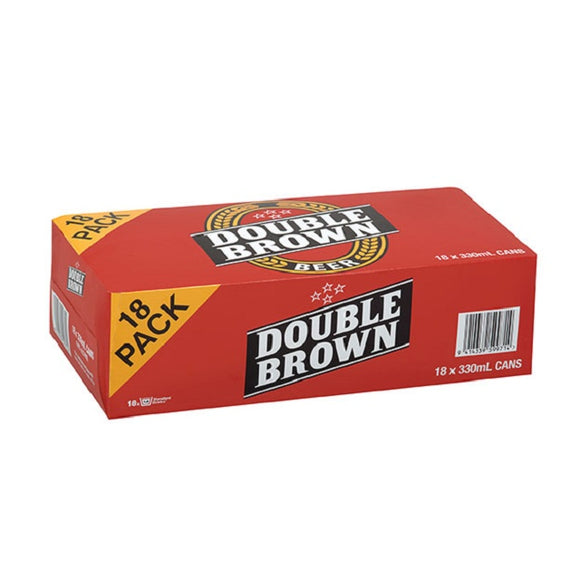 DOUBLE BROWN 18PK CANS 330ML - Thirsty Liquor Hillcrest
