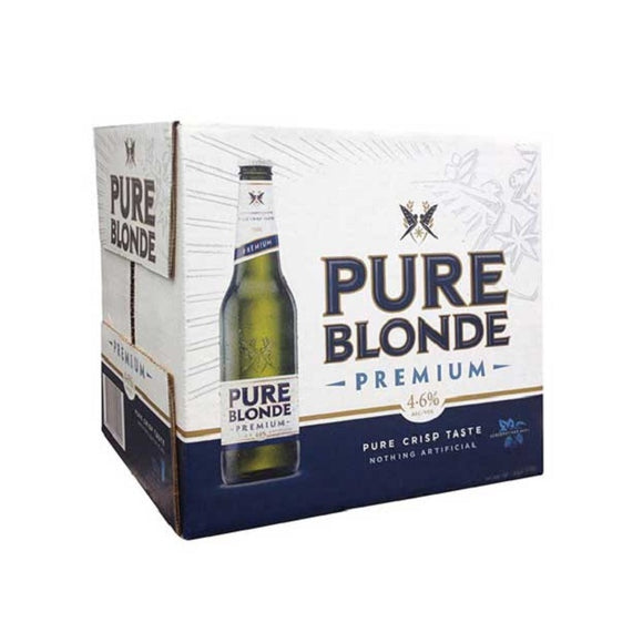 PURE BLONDE LOW CARBS LAGER 12PK BTLS 355ML - Thirsty Liquor Hillcrest