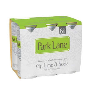 PARK LANE GIN & SODA 7%  6PK CANS 250ML - Thirsty Liquor Hillcrest